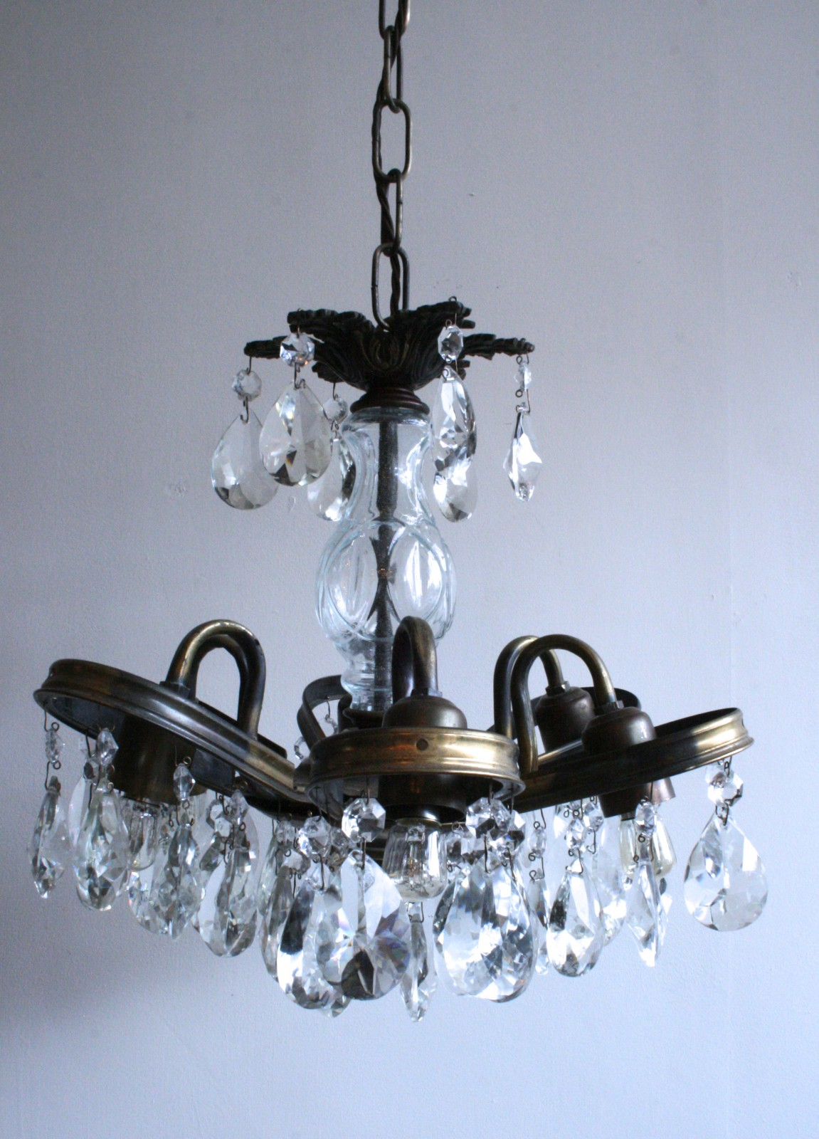 Chandelier with Petal Frame Agapanthus Interiors