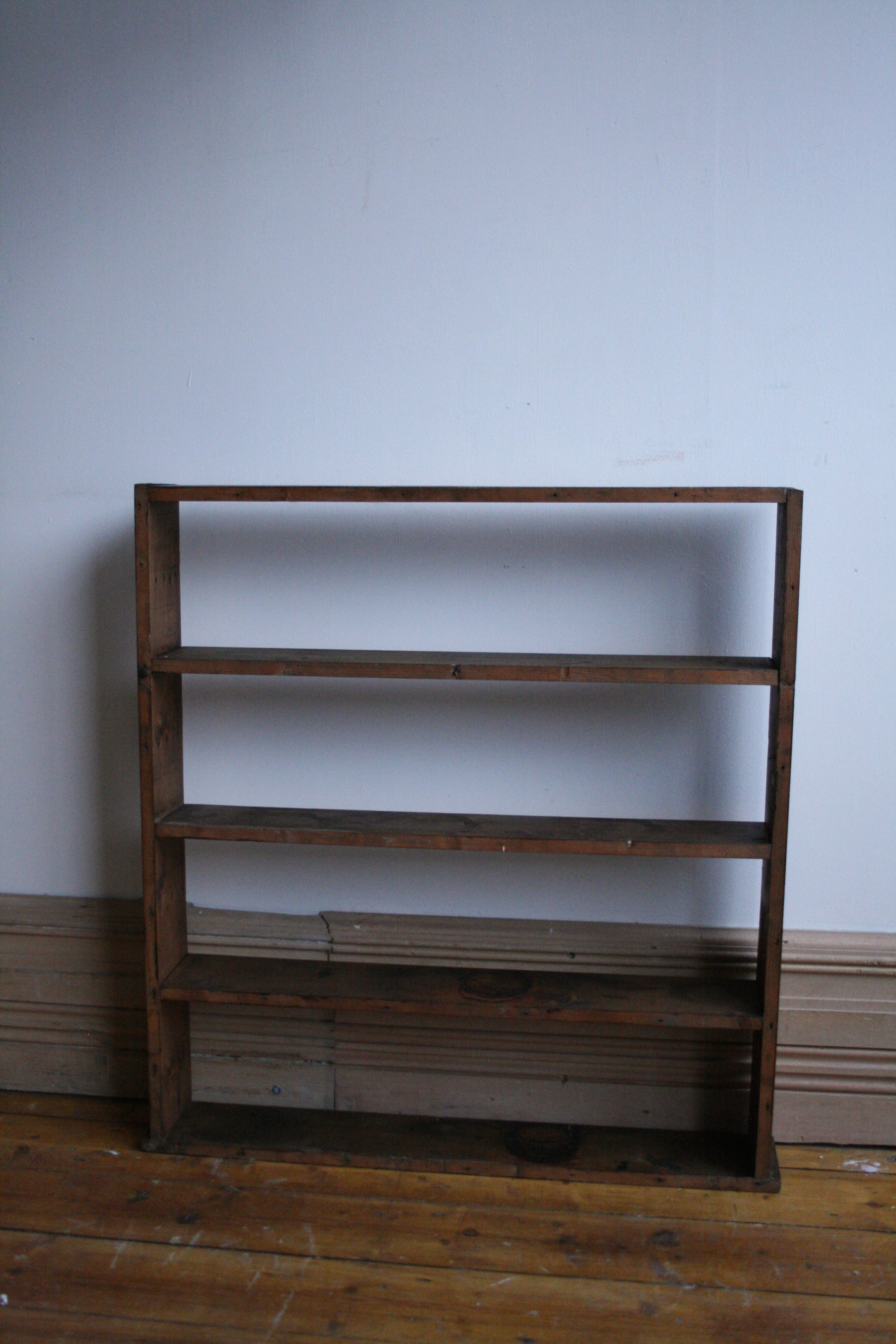 Shallow Wooden Tobacconist Shelves Agapanthus Interiors