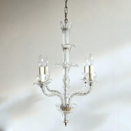 elegant elongated crystal chandelier