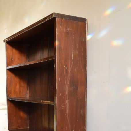 vintage wooden bookcase