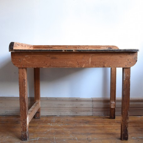antique wooden industrial table