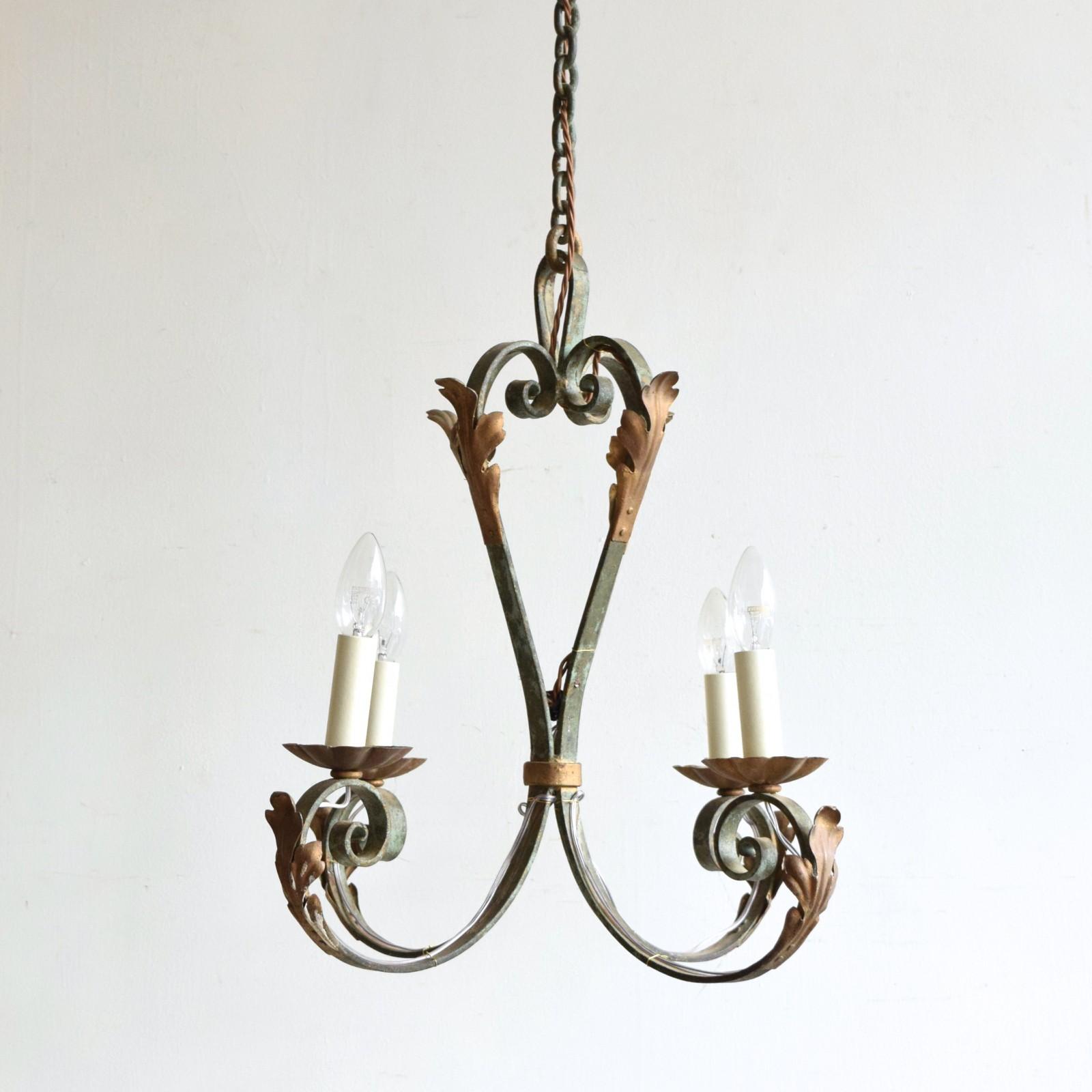 greened wrought iron pendant. Black Bedroom Furniture Sets. Home Design Ideas