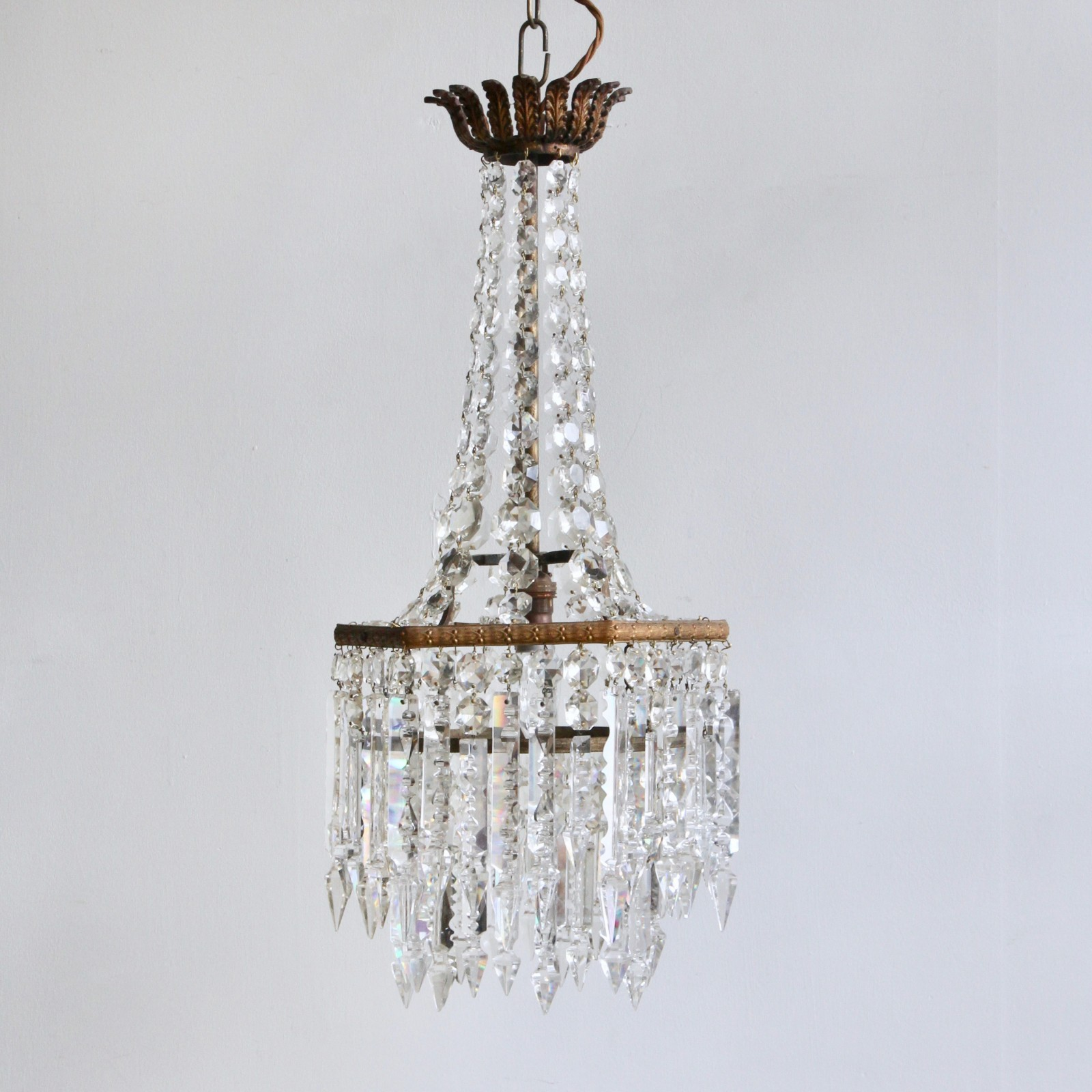 English crystal waterfall chandelier with prince albert drops aloadofball Gallery