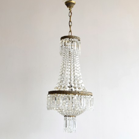 balloon chandelier with prince albert crystal drops