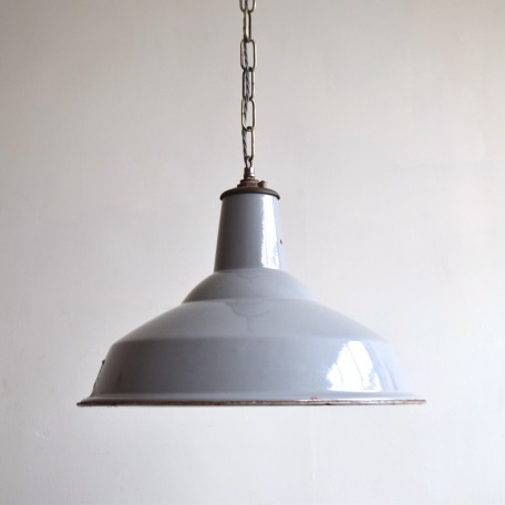 grey industrial metal shade