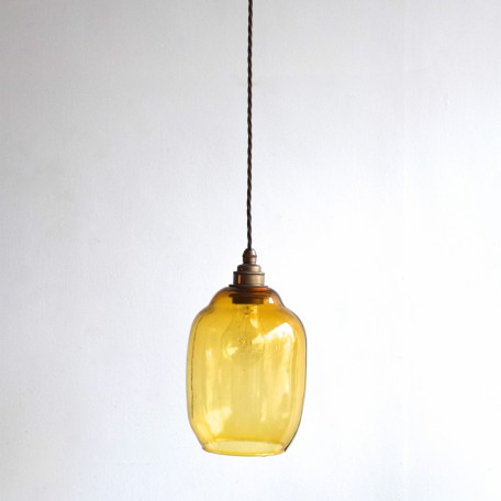 amber glass shade