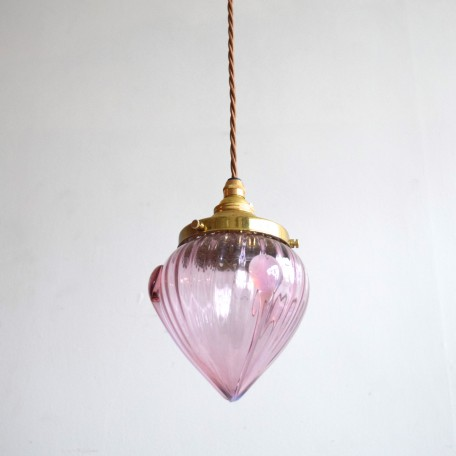 handblown lilac bud shaped glass shade