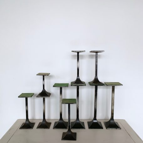 A Collection of 20th Century Steel Shop Counter Display Stands