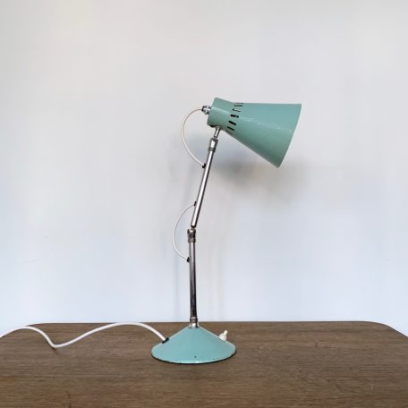1960s Teal and Chrome Desk Lamp