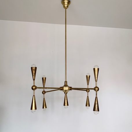 1970s Brass Church Chandelier by W. Sitch & Co Ltd