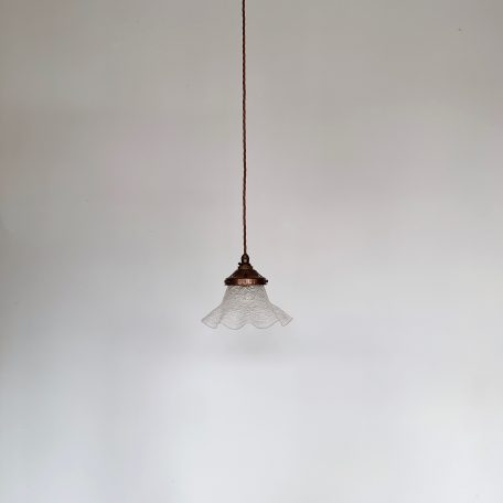 French Crackle Glass Frill Shade