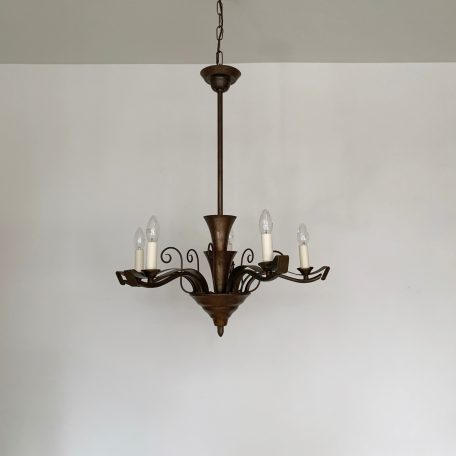 Decorative French Copperised Brass Chandelier