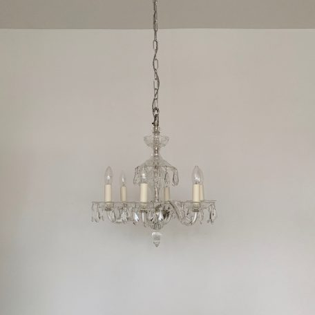 Early 1900s English Crystal Chandelier