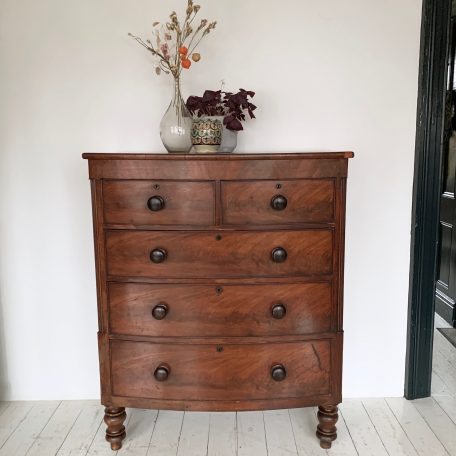 Mahogany Fronted Veneered Chest of Drawers