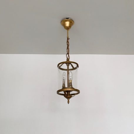 Small Cylindrical Brass Lantern