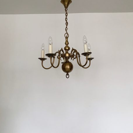 Small Flemish Brass Chandelier
