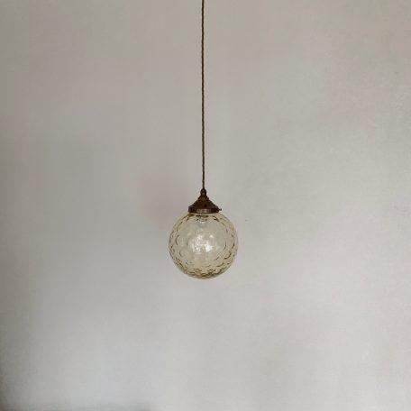 Textured Amber Glass Globe Shades