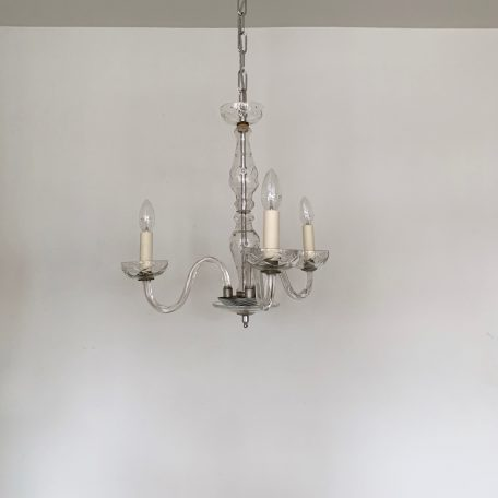 Three Arm Swan Neck Bohemian Glass Chandelier