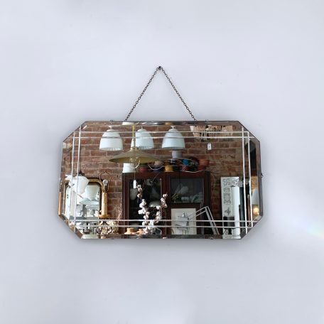 Art Deco Frameless Bevelled Mirror