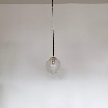 Clear Textured Glass Globe Shade