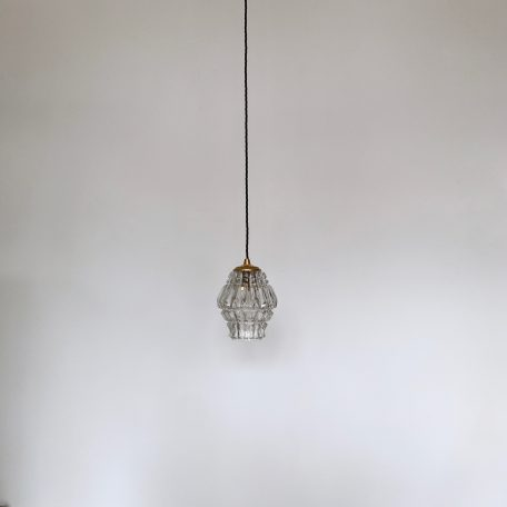 Clear Textured Polished Glass Shade