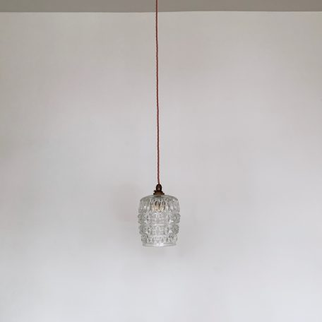 Clear Thick Textured Polished Glass Shade
