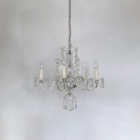 Early 1900s Bohemian Czech Crystal Chandelier