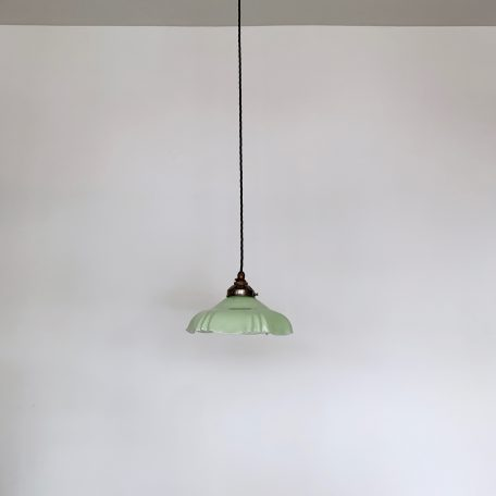 French Pastel Green Milk Glass Shade