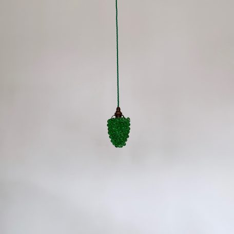 Green Glass Grape Pendant