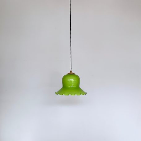 Lime Green Glass Frill Shade