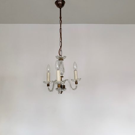Small Crystal Swan Neck Three Arm Chandelier