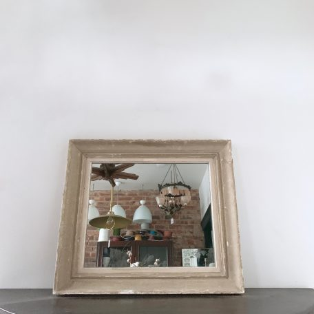 Vintage French Painted Frame Newly Mirrored