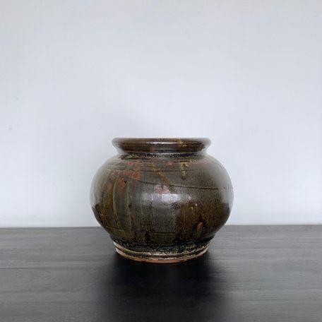 Drip Glaze Pottery Piece