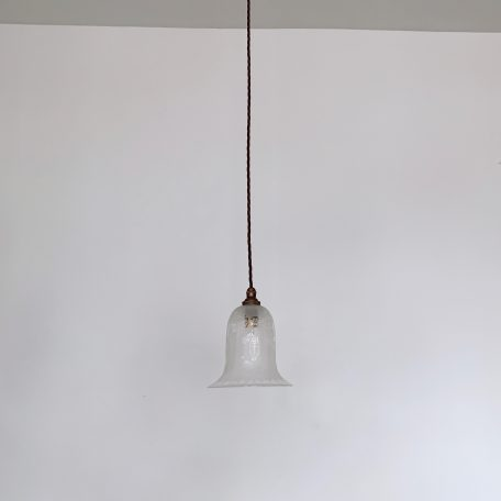 Etched Frosted Glass Bell Shade