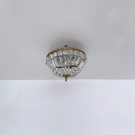 French Ceiling Basket Chandelier