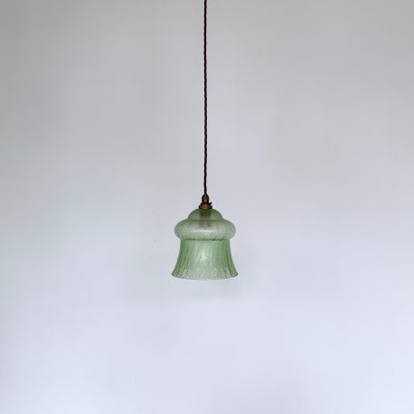 Green Crackle Glass Shade