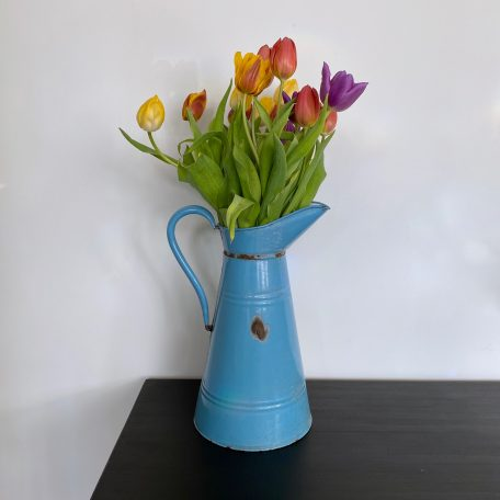 Large French Enamel Pitcher
