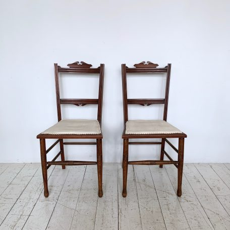 Pair of Mahogany Bedroom Chairs