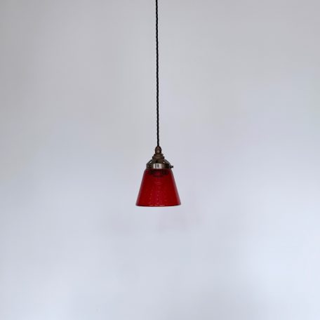 Small 70s Red Bubble Glass Shade