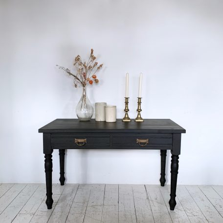 Small Black Console Table Painted in Annie Sloan