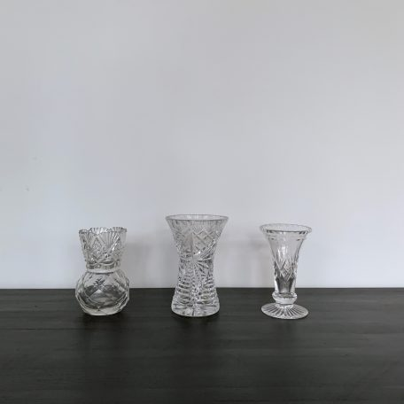 Small Cut Glass Vases
