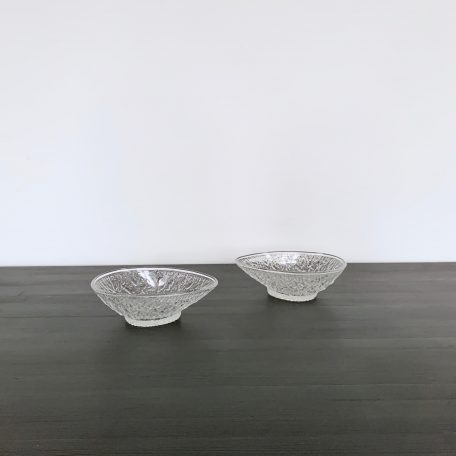 Two Decorative Moulded Glass Dishes