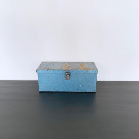 Vintage Blue Metal Tin