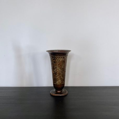 Turkish Brass and Copper Etched Vase
