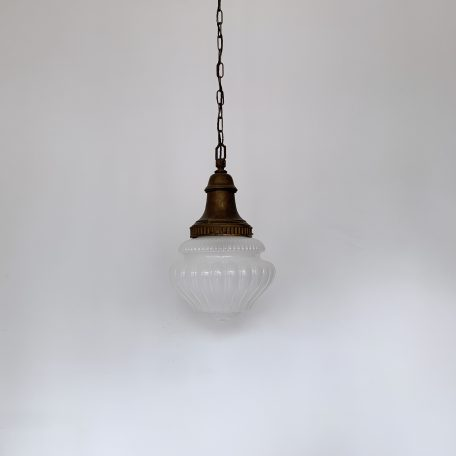Early 1900s English Opaque School House Pendant