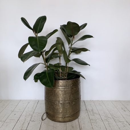 Large Vintage Brass Planter