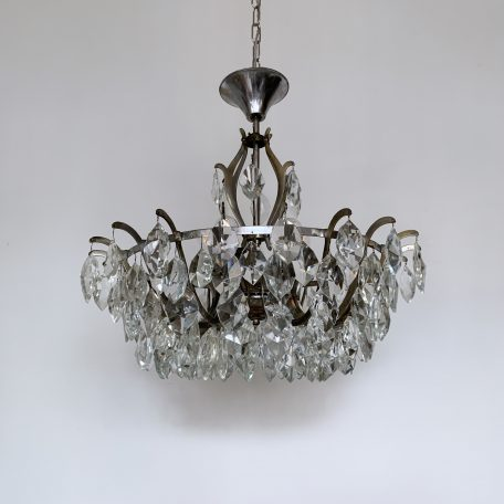 Multi Arm Chandelier with Crystal Iceberg Drops