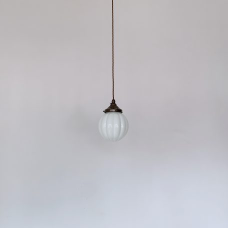 Polished Glass Shaped Opaline Globe Shade