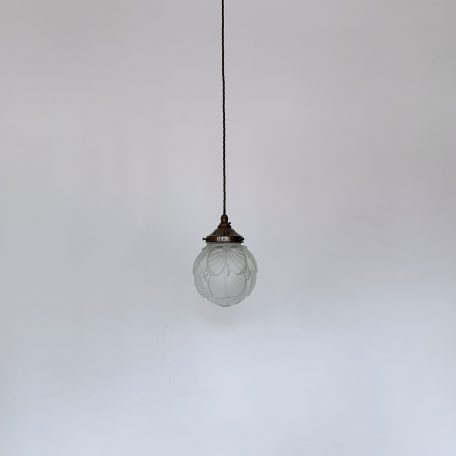 Textured Art Deco Style Frosted Globe Shade