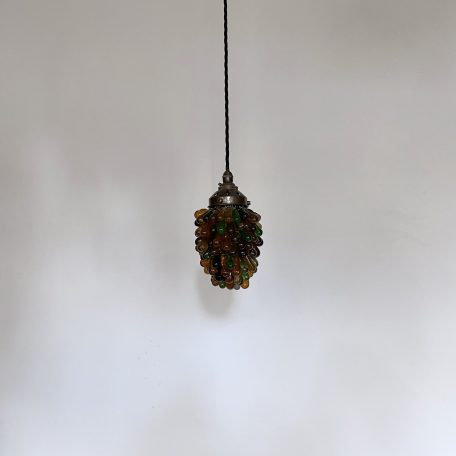 French Multi Coloured Glass Grape Pendant